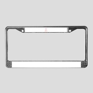 I-RUN-LIKE-A-GIRL-OPT-RED License Plate Frame