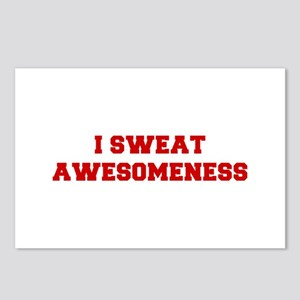 I-SWEAT-AWESOMENESS-FRESH-RED Postcards (Package o