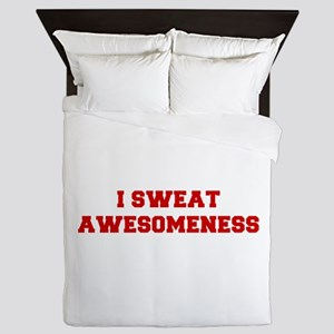 I-SWEAT-AWESOMENESS-FRESH-RED Queen Duvet