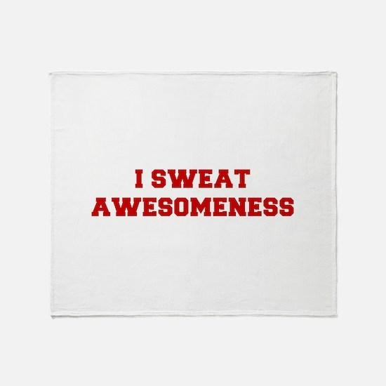 I-SWEAT-AWESOMENESS-FRESH-RED Throw Blanket