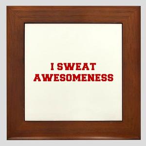 I-SWEAT-AWESOMENESS-FRESH-RED Framed Tile