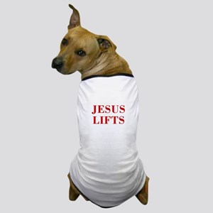 JESUS-LIFTS-BOD-RED Dog T-Shirt