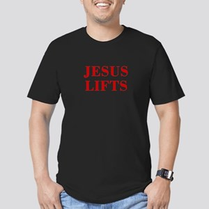 JESUS-LIFTS-BOD-RED T-Shirt