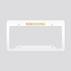 wrestling License Plate Holder
