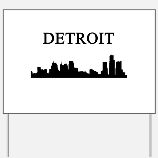Detroit Yard Sign