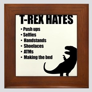 T-Rex Hates Bullet List Framed Tile