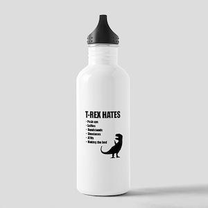 T-Rex Hates Bullet List Sports Water Bottle