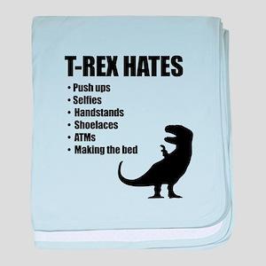 T-Rex Hates Bullet List baby blanket