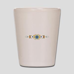 Scandinavian Floral Border Shot Glass