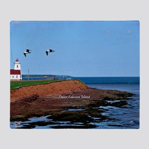 Prince Edward Island Lighthouse Throw Blanket