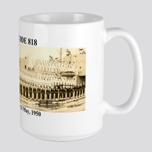 Uss New Dde-818 Large Mugs