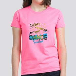 Lights Dance Optional Text Women's Dark T-Shirt