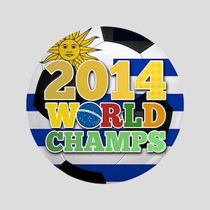 "2014 World Champs Ball - Uruguay 3.5"" Button"