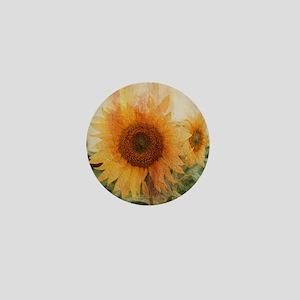 sunflowers Mini Button