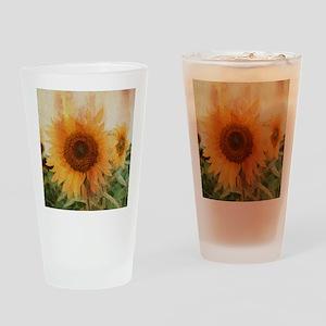 sunflowers Drinking Glass