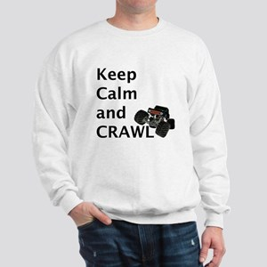 Keep calm and crawl for light t Sweatshirt
