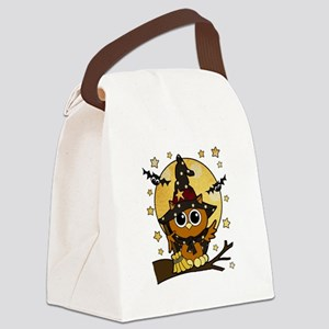 Bewitching Owl Canvas Lunch Bag