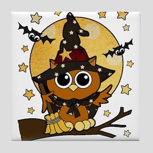 Bewitching Owl Tile Coaster