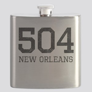 Distressed New Orleans 504 Flask