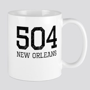 Distressed New Orleans 504 Mugs