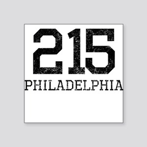 Distressed Philadelphia 215 Sticker