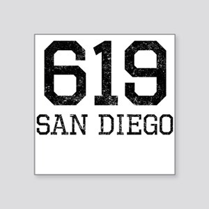 Distressed San Diego 619 Sticker