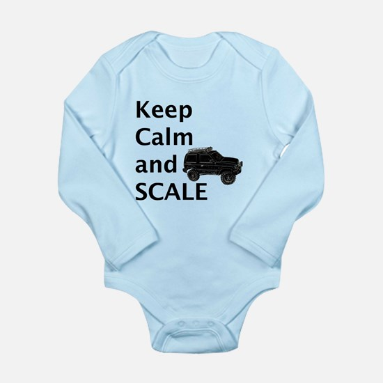Keep Calm and SCALE Long Sleeve Infant Bodysuit