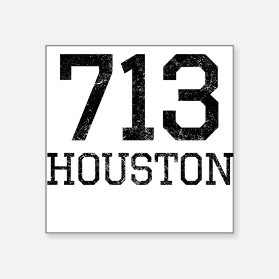 Distressed Houston 713 Sticker