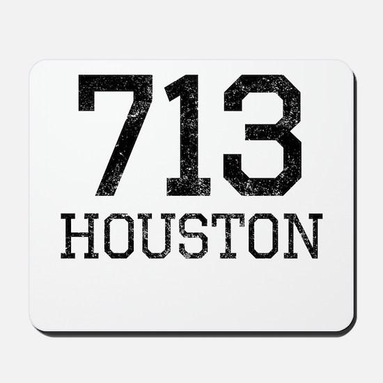 Distressed Houston 713 Mousepad