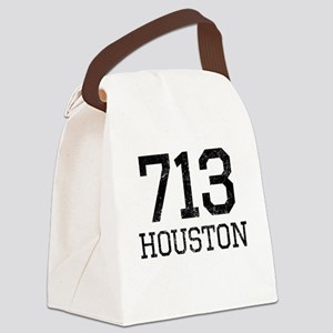 Distressed Houston 713 Canvas Lunch Bag