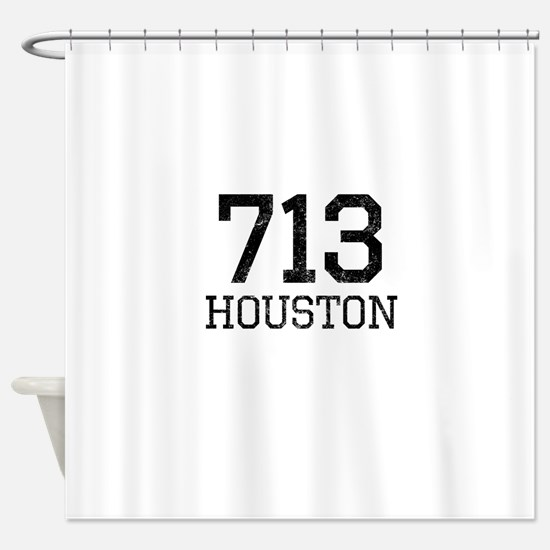 Distressed Houston 713 Shower Curtain