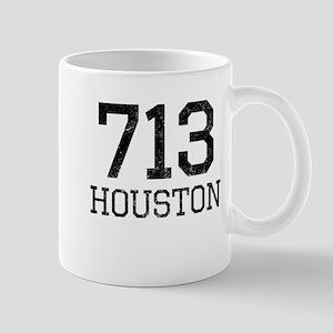 Distressed Houston 713 Mugs