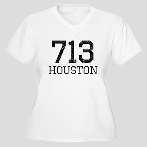 Distressed Houston 713 Plus Size T-Shirt
