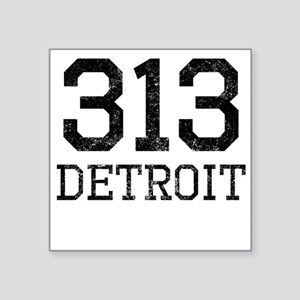 Distressed Detroit 313 Sticker