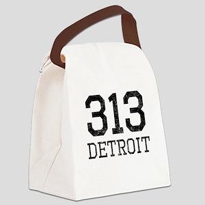 Distressed Detroit 313 Canvas Lunch Bag