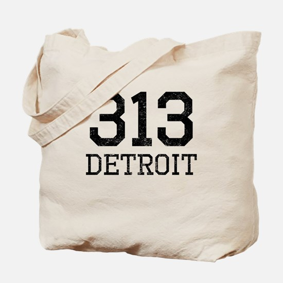 Distressed Detroit 313 Tote Bag