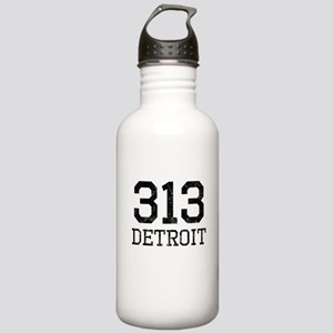 Distressed Detroit 313 Water Bottle