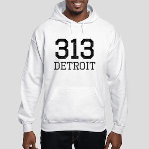 Distressed Detroit 313 Hoodie