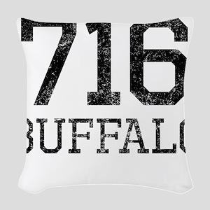Distressed Buffalo 716 Woven Throw Pillow