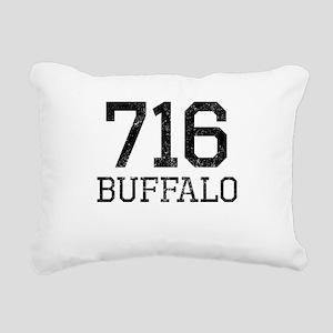 Distressed Buffalo 716 Rectangular Canvas Pillow