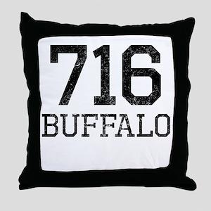 Distressed Buffalo 716 Throw Pillow