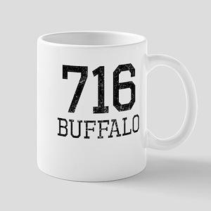 Distressed Buffalo 716 Mugs