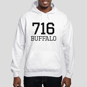 Distressed Buffalo 716 Hoodie