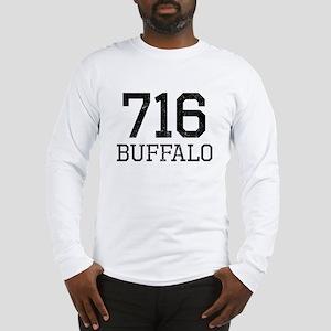 Distressed Buffalo 716 Long Sleeve T-Shirt