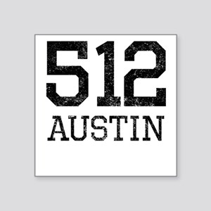 Distressed Austin 512 Sticker