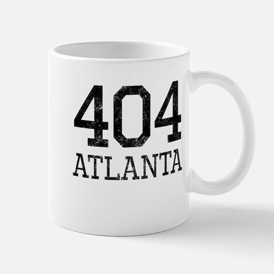 Distressed Atlanta 404 Mugs