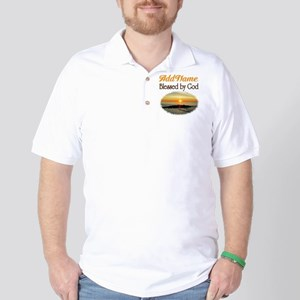 BLESSED BY GOD Golf Shirt