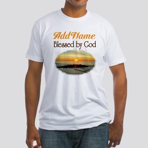 BLESSED BY GOD Fitted T-Shirt