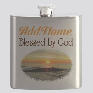 BLESSED BY GOD Flask