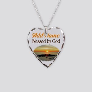 BLESSED BY GOD Necklace Heart Charm